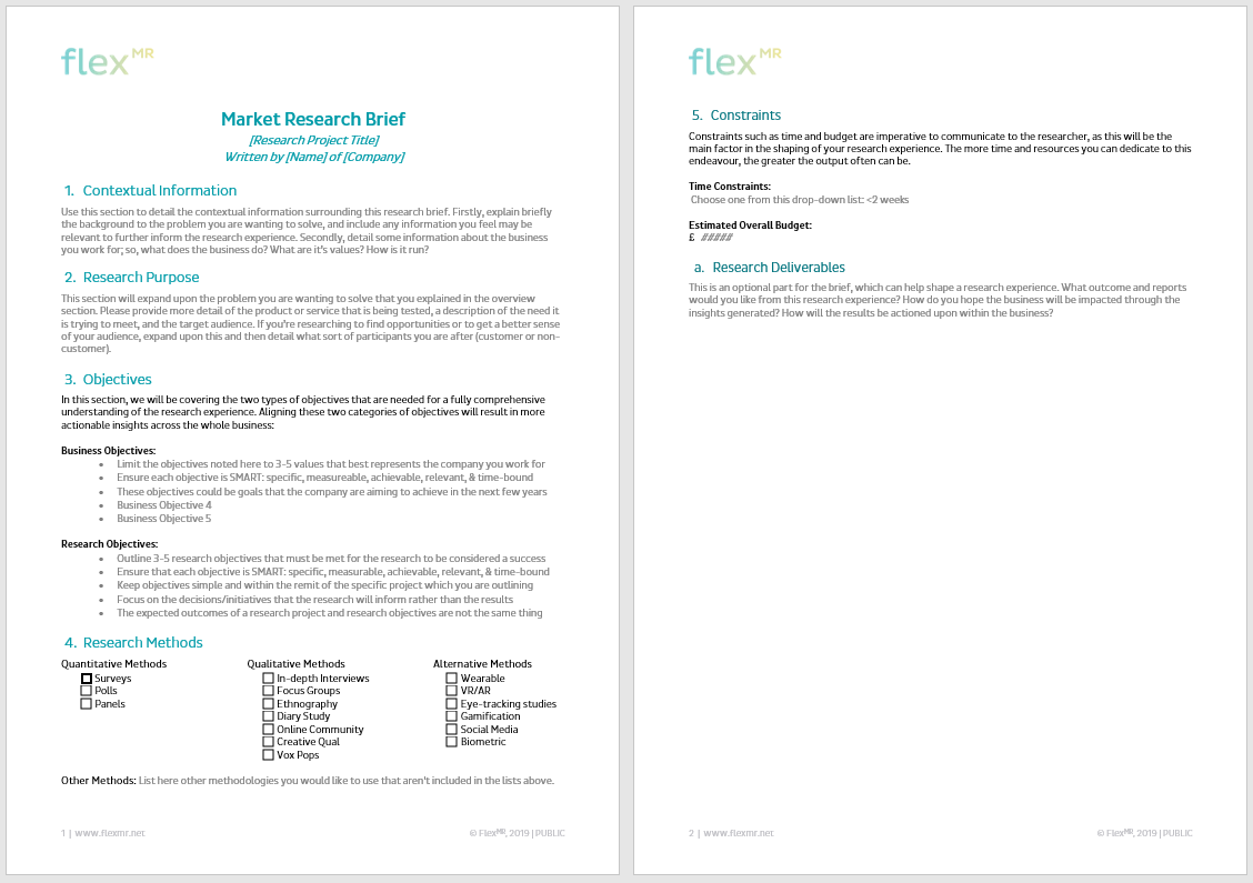 Research brief template