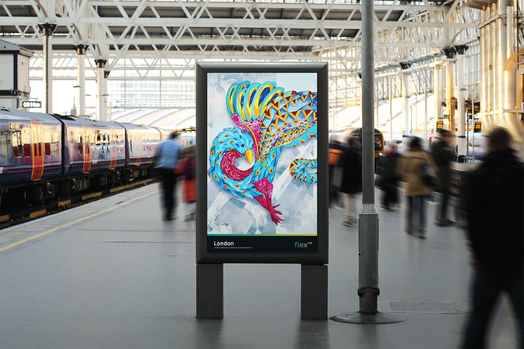 Press Photo - London Advert