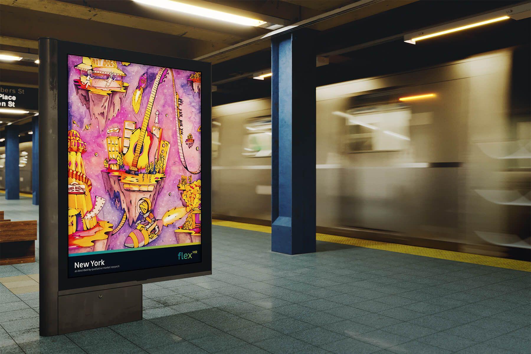 Press Photo - New York Advert